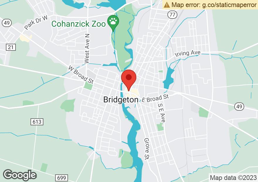 Google Map of 25 E BROAD ST