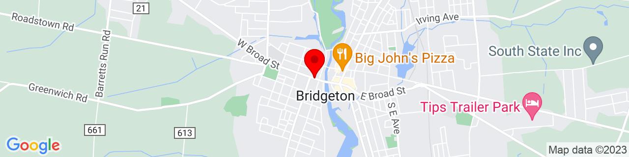 Google Map of 39.4277358, -75.23853609999999