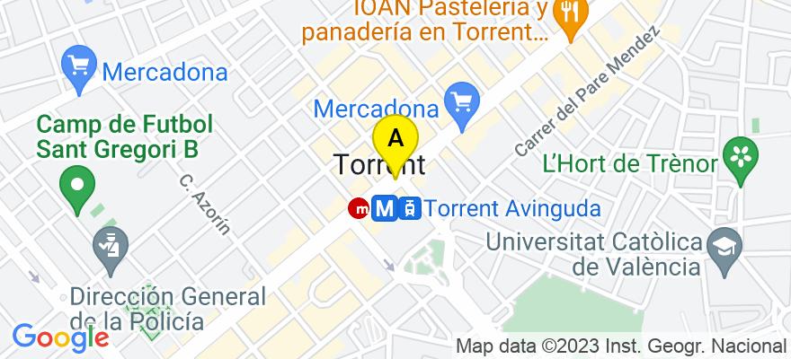 situacion en el mapa de . Direccion: Av. Barcelona 92, Nº 3, Entr. H, 46900 Torrent. Valencia