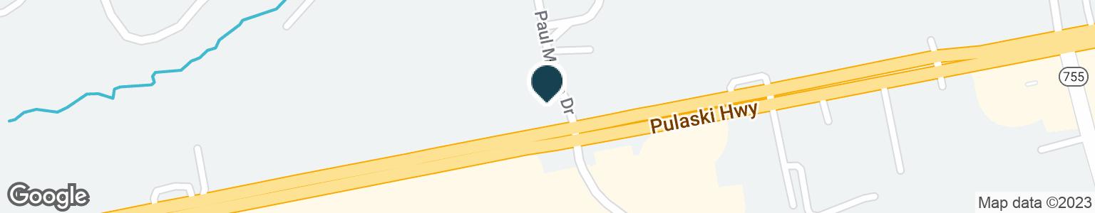 Google Map of1930 PULASKI HWY
