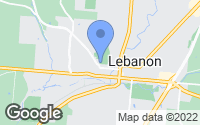 Map of Lebanon, OH