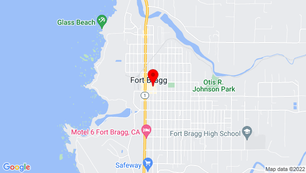Google Map of 335 N. Franklin Street, Fort Bragg, CA 95437