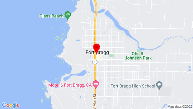 Google Map of 356 North Main Street, Fort Bragg, CA 95437