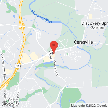 Map of Panera Bread at 1700 Kingfisher Drive, Frederick, Maryland 21701