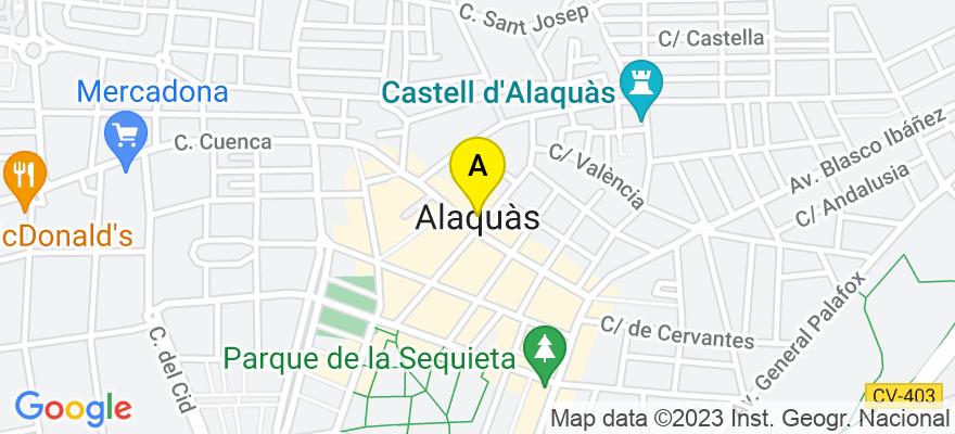 situacion en el mapa de . Direccion: Calle Traginers, 2.- Plg. Ind. Els Mollons, 46970 Alaquàs. Valencia