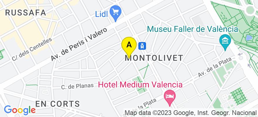 situacion en el mapa de . Direccion: CL OBISPO JAIME PEREZ Nº 20, 46006 Valencia. Valencia