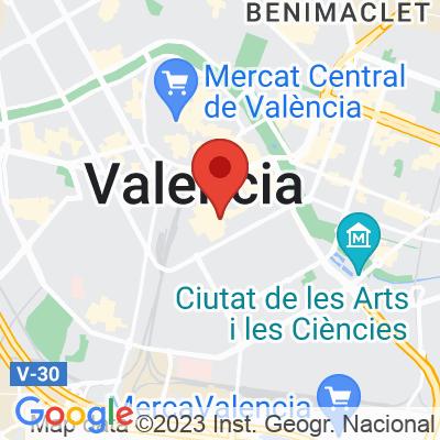 Map showing Blackbird Valencia