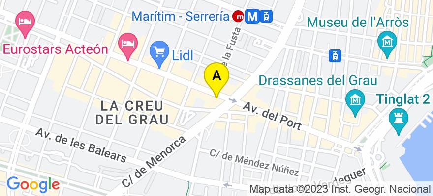 situacion en el mapa de . Direccion: AV DEL PUERTO Nº 256 PTA 10, 46023 Valencia. Valencia