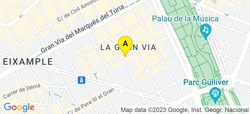 situacion en el mapa de . Direccion: Calle Burriana, 24 pta.3, 46005 Valencia. Valencia