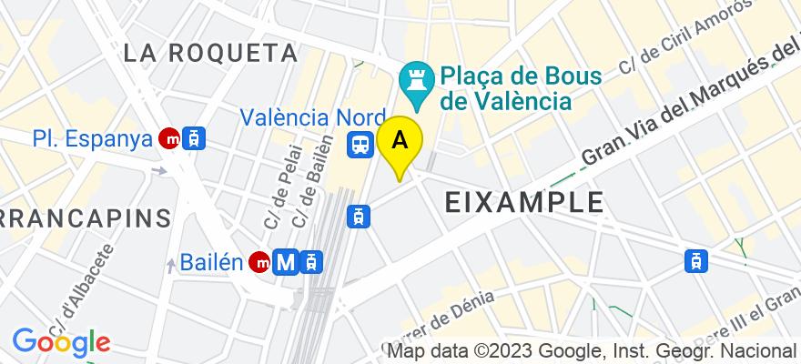 situacion en el mapa de . Direccion: C/ Segorbe 4-3-8, 46004 Valencia. Valencia