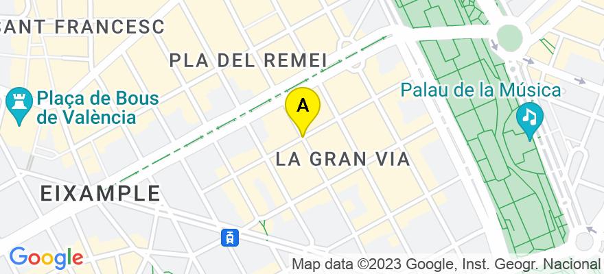situacion en el mapa de . Direccion: C/ Conde de Altea, 46005 Valencia. Valencia