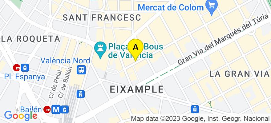 situacion en el mapa de . Direccion: Cirilo Amoros 9-2, 46004 Valencia. Valencia
