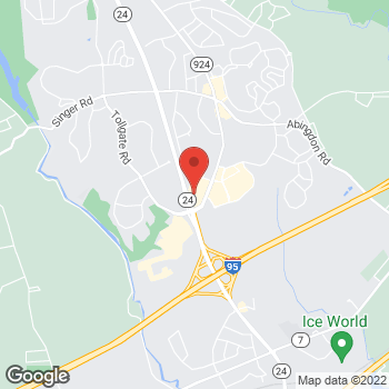 Map of Hair Cuttery at 3476 Emmorton Rd, Abingdon, MD 21009
