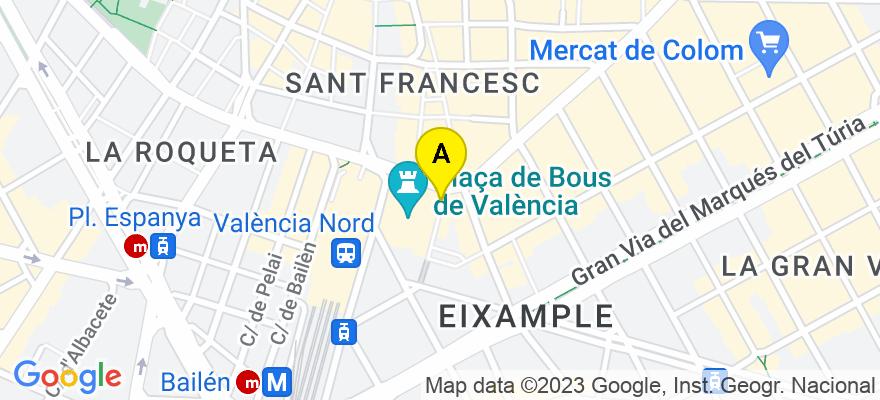 situacion en el mapa de . Direccion: Pasaje Doctor Serra, n°2-2°, 46004 Valencia. Valencia