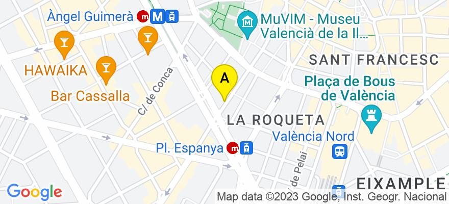 situacion en el mapa de . Direccion: JESUS, 22 - 2º - 5ª, 46007 Valencia. Valencia