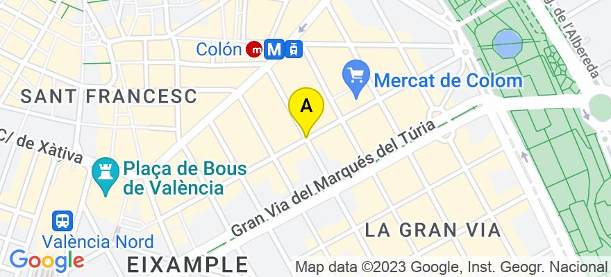 situacion en el mapa de . Direccion: C/ Cirilo Amoros, 46004 Valencia. Valencia