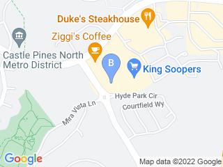 Map of Heritage Pet Grooming Dog Boarding options in Castle Rock | Boarding