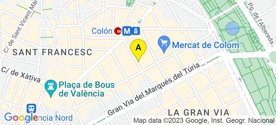 situacion en el mapa de . Direccion: Calle Isabel la catolica, nº 19 puerta 3, 46004 Valencia. Valencia