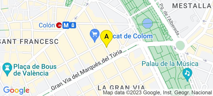 situacion en el mapa de . Direccion: C/ Conde Salvatierra, 35. Pta. 11, 46004 Valencia. Valencia