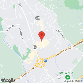 Map of Panera Bread at 3412 Merchant Boulevard, Abingdon, MD 21009