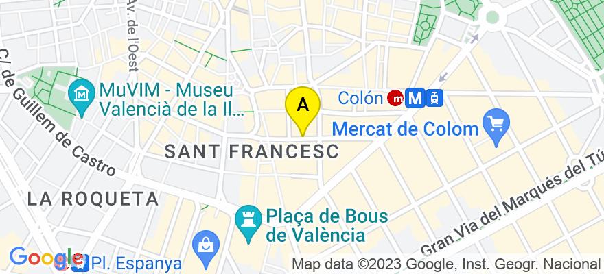 situacion en el mapa de . Direccion: Roger de Lauria, 9 pta.8, 46002 Valencia. Valencia