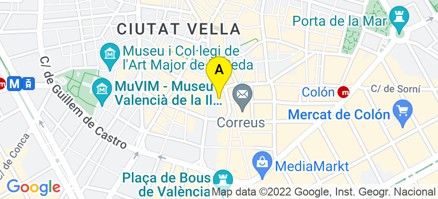 situacion en el mapa de . Direccion: av/ Peris y Valero 79, 1-A, 46006 Valencia. Valencia