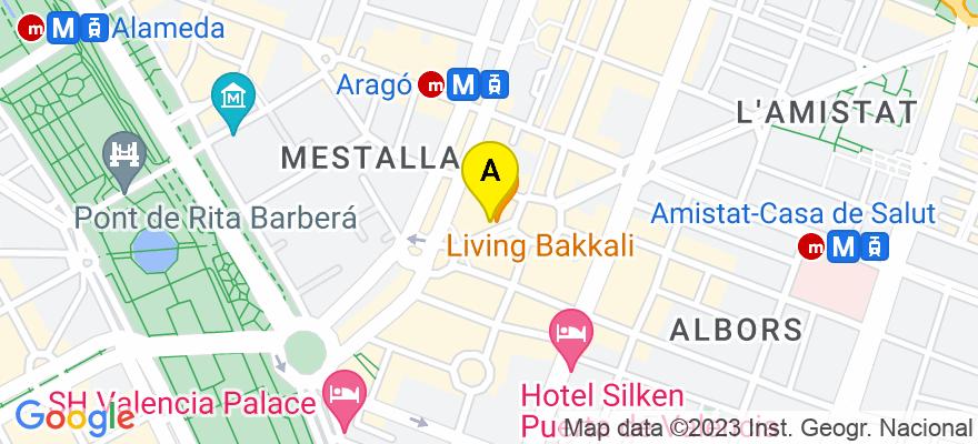situacion en el mapa de . Direccion: Calle Chile Nº 7, 46021 Valencia. Valencia
