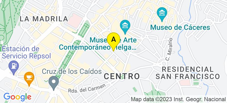 situacion en el mapa de . Direccion: DIEGO MARIA CREHUET, 21 1º F, 10002 Cáceres. Cáceres