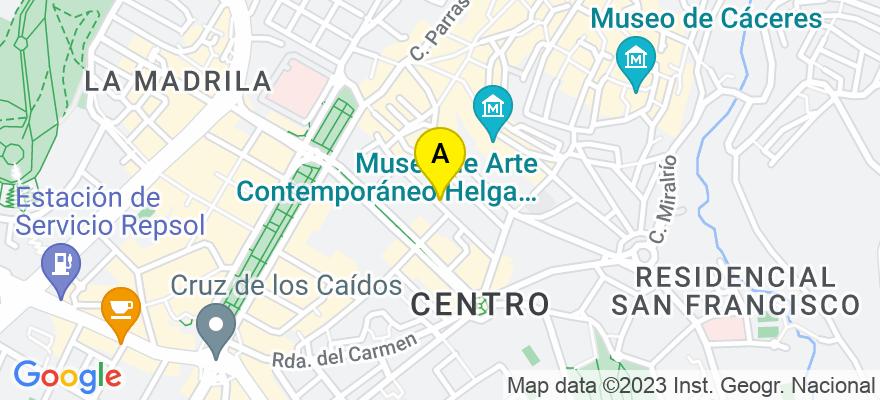 situacion en el mapa de . Direccion: Calle Diego María Crehuet, 19, 10002 Cáceres. Cáceres