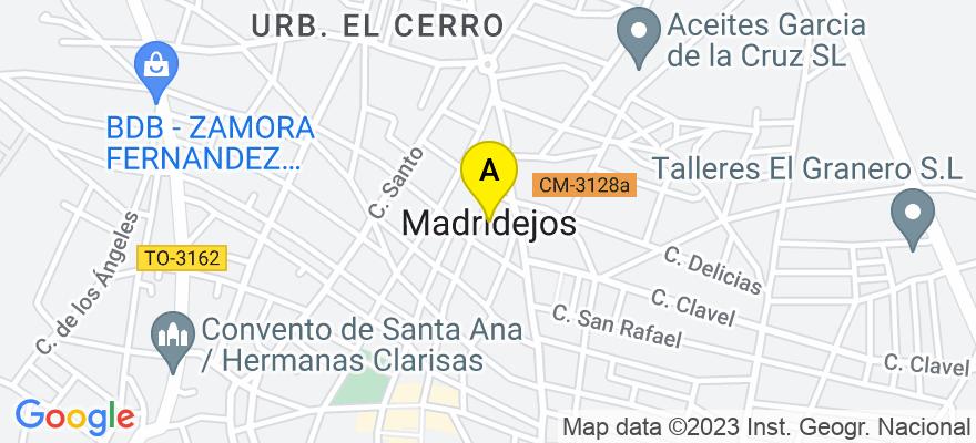 situacion en el mapa de . Direccion: C/ Real 8, Local-2, 45710 Madridejos. Toledo