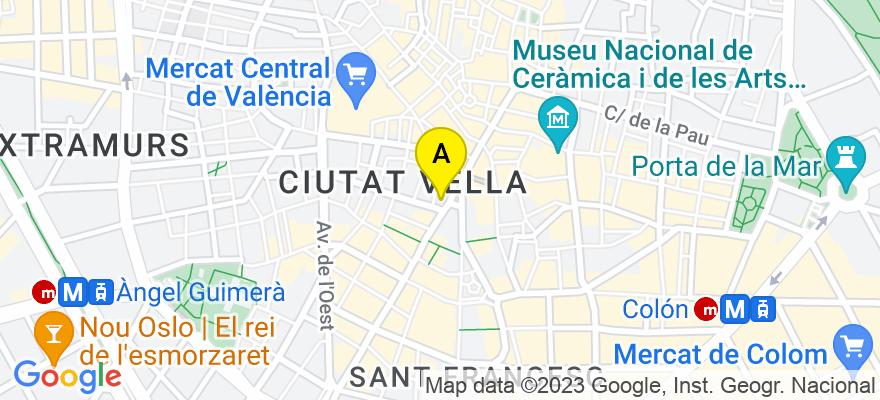 situacion en el mapa de . Direccion: C/ San Vicente 22 - 6º - 5ª, 46002 Valencia. Valencia