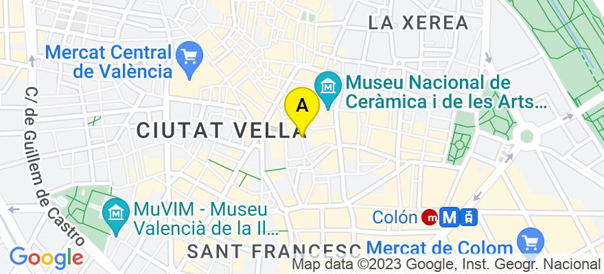 situacion en el mapa de . Direccion: C/Embajador Vich nº 11-2º-2ª, 46002 Valencia. Valencia