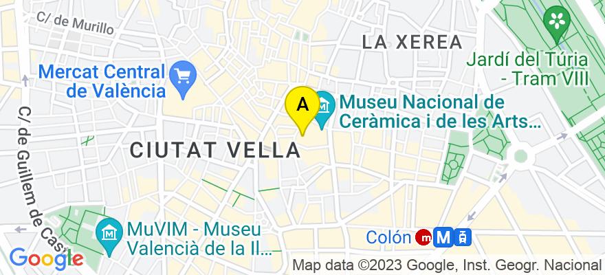 situacion en el mapa de . Direccion: Calle Embajador Vich, núm. 3 - 1º A, 46002 Valencia. Valencia