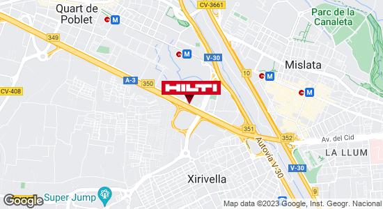 Obtener indicaciones para Tienda Hilti - Quart de Poblet (Valencia)