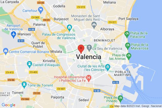 Forum Internacional De Pilates Cuidad de Valencia Map