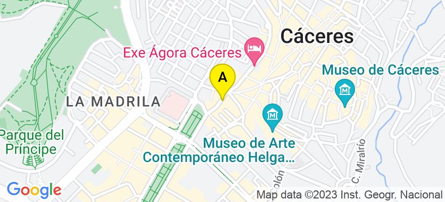 situacion en el mapa de . Direccion: C/San Antón 9, 4º, 10003 Cáceres. Cáceres