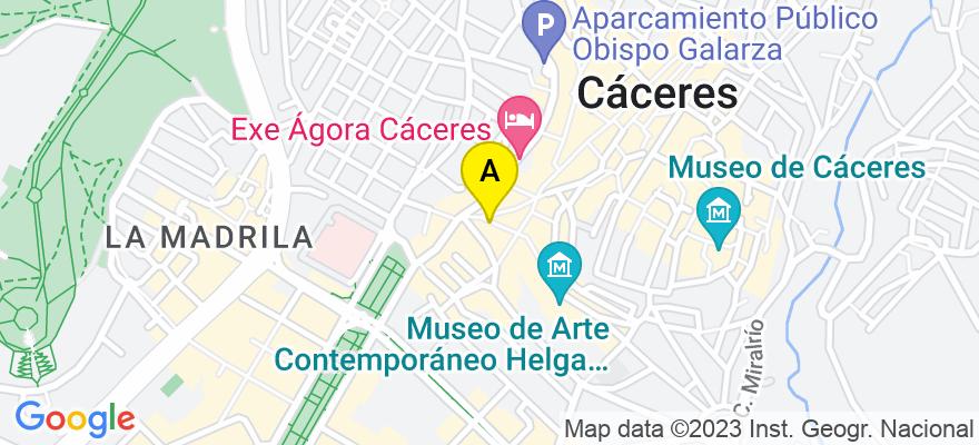 situacion en el mapa de . Direccion: C/ DONOSO CORTÉS Nº 27 6º C, 10003 Cáceres. Cáceres