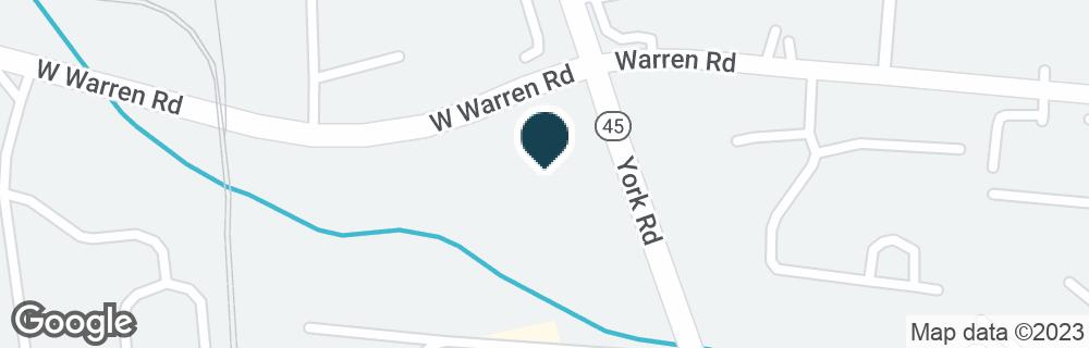 Google Map of10410 YORK RD