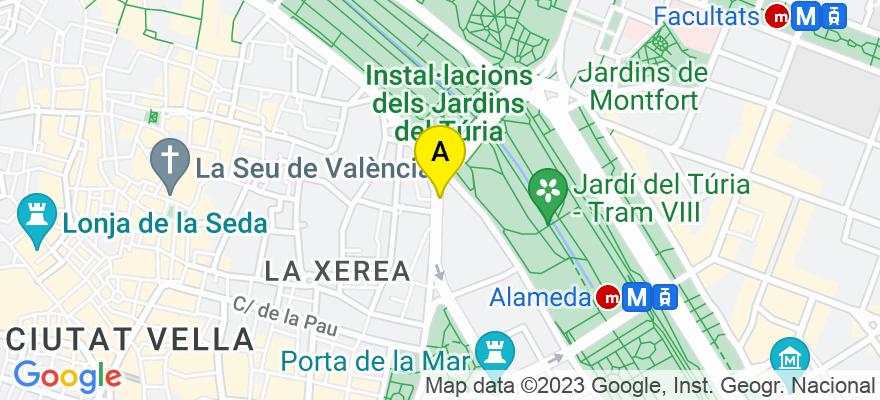 situacion en el mapa de . Direccion: Plaza tetuan número 16, 46003 Valencia. Valencia