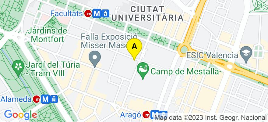 situacion en el mapa de . Direccion: Cl. Artes Gráficas 44.-6.-11, 46010 Valencia. Valencia