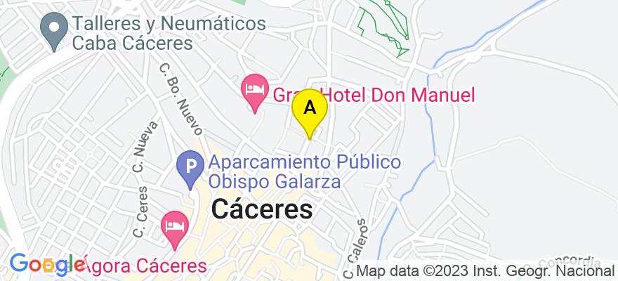 situacion en el mapa de . Direccion: Calle Muñoz Chaves 18, 2º F, 10003 Cáceres. Cáceres