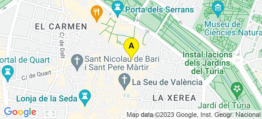 situacion en el mapa de . Direccion: c/ Navellos 12, 46003 Valencia. Valencia