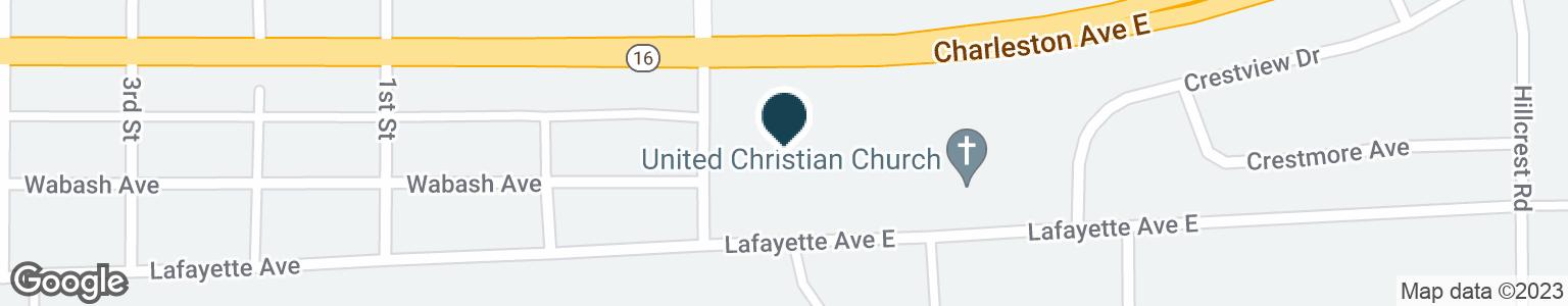 Google Map of212 S LOGAN AVE
