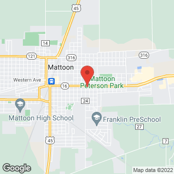 Map of Arby's at 815 Charleston Ave, Mattoon, IL 61938