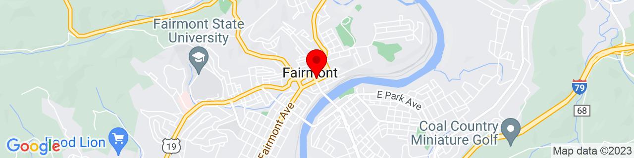 Google Map of 39.4850848, -80.1425781