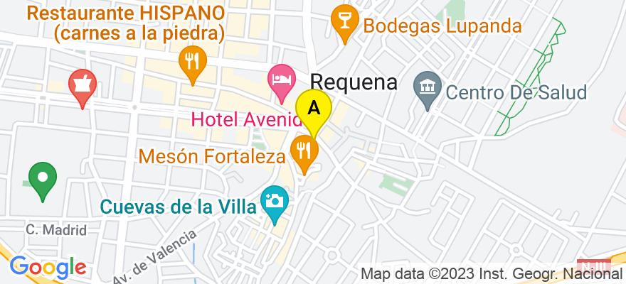 situacion en el mapa de . Direccion: PLAZA DEL PORTAL 1-1B, 46340 Requena. Valencia