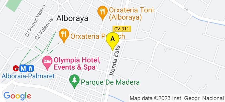situacion en el mapa de . Direccion: Paseo Aragón n94-9, 46120 Alboraya. Valencia