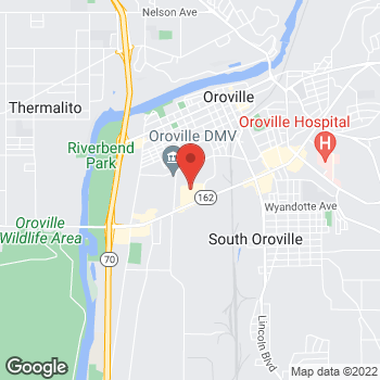 Map of Check `n Go at 1124 Oro Dam Boulevard, Oroville, CA 95965