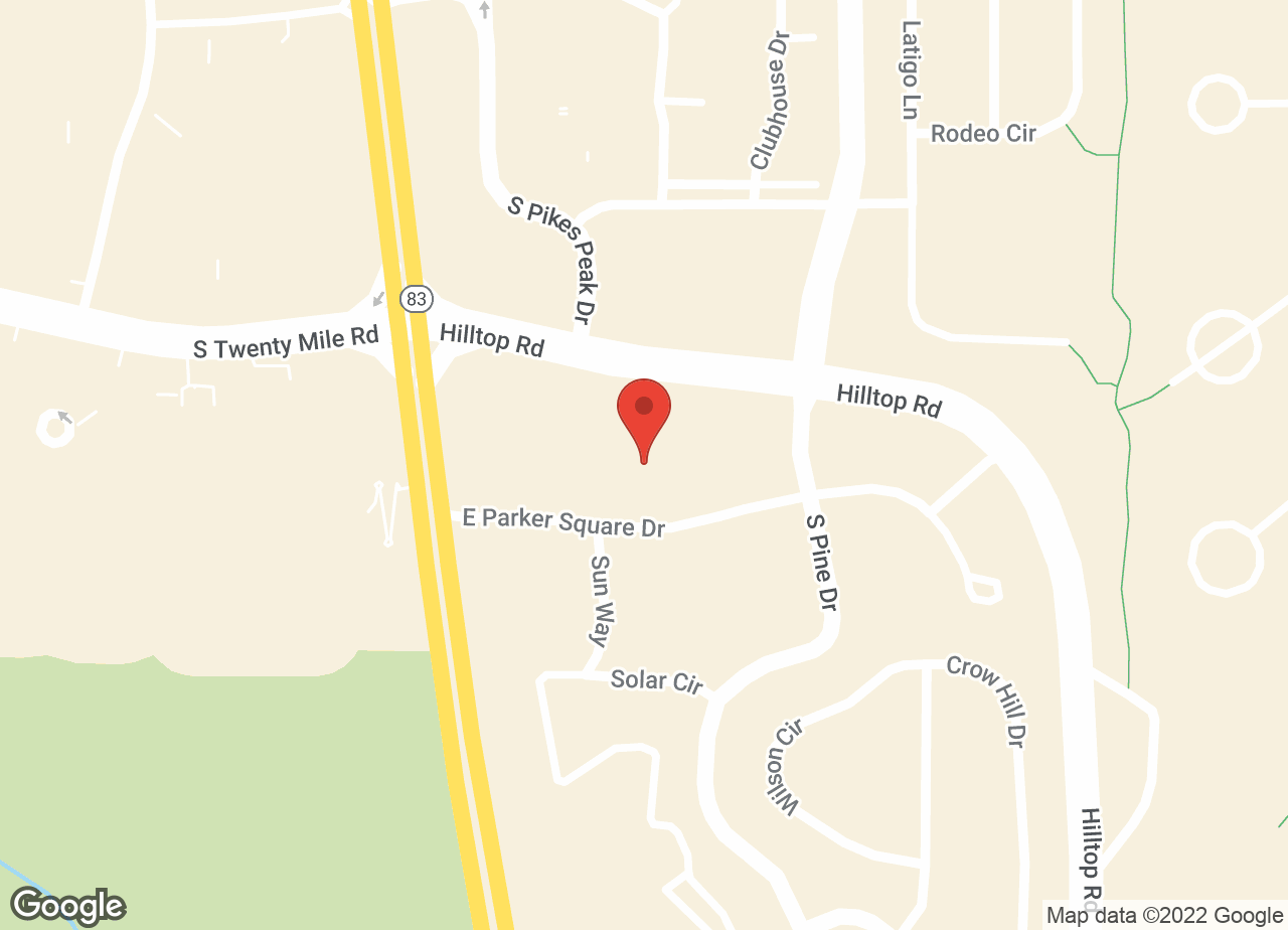 Google Map of VCA Animal Clinic of Parker