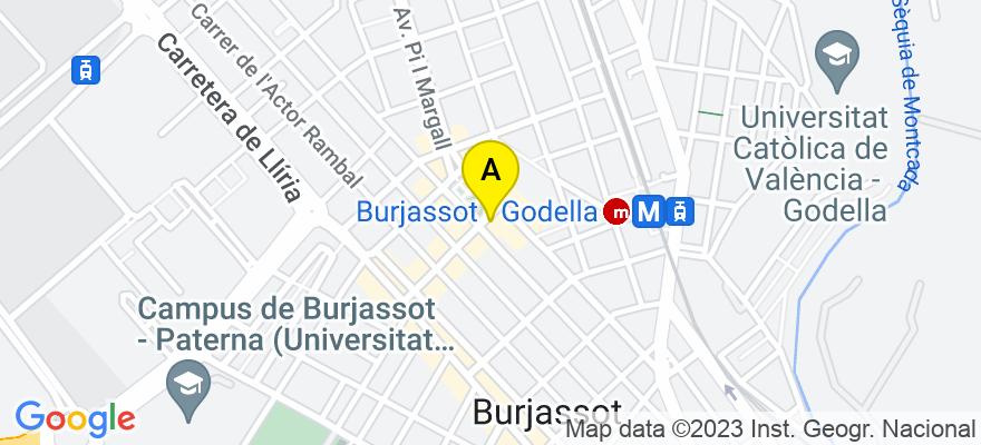 situacion en el mapa de . Direccion: Plaza de la Concordia 17, 46100 Burjassot. Valencia